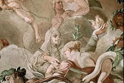 Nördliche Deckenzone, Allegorie des antiken und christlichen Zeitalters, Detail, Aufn. Cürlis, Peter, 1943
