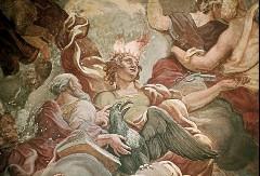 Südwand, Prometheus aus der Figurengruppe über dem Trompeterchor, Aufn. Cürlis, Peter, 1943
