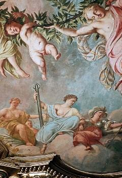 Ausschnitt, auf Wolken thronende Göttinnen, Aufn. Cürlis, Peter, 1943