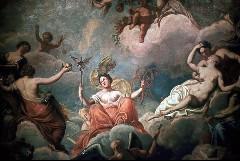 Götterreigen, Ausschnitt: Göttin mit dem Monogramm der Königin Sophie Charlotte, Aufn. Cürlis, Peter, 1943