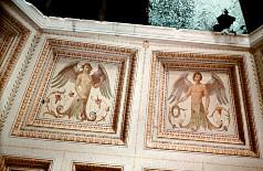 Teilansicht der Kuppelmalereien des oberen Registers mit Fabelwesen, Aufn. Cürlis, Otto, 1943/1945