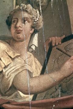 Kopf der Malerei aus der Gruppe 'Bildende Künste', Aufn. Wolff, Paul, 1943/1944