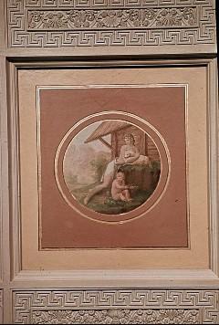 Deckenbild: Allegorie der Unschuld (?), Aufn. Müller und Sohn, 1943/1945