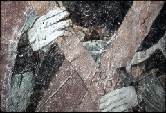 Ausschnitt: Hände des Apostels mit dem Andreaskreuz, Aufn. Schulze-Marburg, Rudolf, 1943/1944