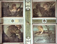 Vier Bildfelder, zum Teil mit Putten, Aufn. Schön, Inge, 1943/1944