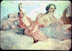Ausschnitt: Calliope mit zwei musizierenden Putten, Aufn. Cürlis, Peter, 1943/1945