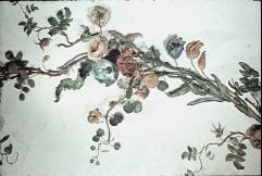 Teilansicht: Blumenkranz an der Deckenmitte, Ausschnitt: Blumen auf der Westhälfte, Aufn. Cürlis, Peter, 1943/1945