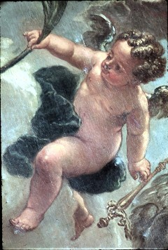 Ausschnitt: Putto mit Palmzweig neben der Fauna, Aufn. Cürlis, Peter, 1943