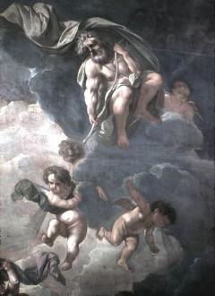 Ausschnitt: antiker Gott mit Krone und Bogen oben rechts, Aufn. Cürlis, Peter, 1943