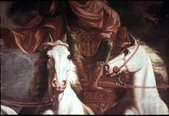 Ausschnitt: Unterkörper des Kurfürsten und Köpfe der mittleren zwei Pferde, Aufn. Cürlis, Peter Cürlis, Peter, 1943