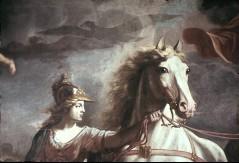 Ausschnitt: Minerva mit dem linken Pferd, Teilansicht, Aufn. Cürlis, Peter Cürlis, Peter, 1943