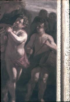 Ausschnitt: Flötenbläser und Trommler unten rechts, Aufn. Cürlis, Peter Cürlis, Peter, 1943