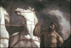 Ausschnitt: Herkules mit dem rechten Pferd, Teilansicht, Aufn. Cürlis, Peter Cürlis, Peter, 1943