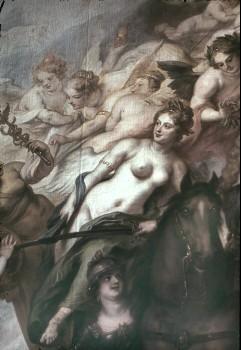 Ausschnitt: weibliche Allegorien links neben dem Kurfürsten, Aufn. Cürlis, Peter, 1943