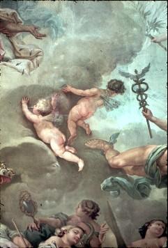 Ausschnitt: zwei Genien links neben Merkur, Aufn. Cürlis, Peter Cürlis, Peter, 1943