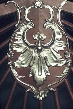 Detail: Rocaille über den Türen der Nordwand, Aufn. Cürlis, Peter, 1943