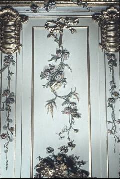 Detail: Teil der Wanddekoration an der Westwand, über dem Spiegel, Aufn. Cürlis, Peter, 1943