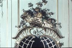 Detail: Blumenkorb an der Westwand, über dem Spiegel, Aufn. Cürlis, Peter, 1943