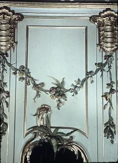 Detail: Teil der Wanddekoration an der Südwand, über dem Spiegel, Aufn. Cürlis, Peter, 1943