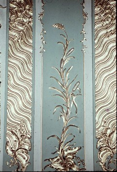 Detail: Schilfpflanze am rechten Seitenpaneel der Westwand, Aufn. Cürlis, Peter Cürlis, Peter, 1943