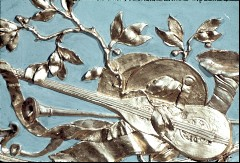 Detail: Musikinstrumente in der Nordwestecke, Aufn. Cürlis, Peter Cürlis, Peter, 1943