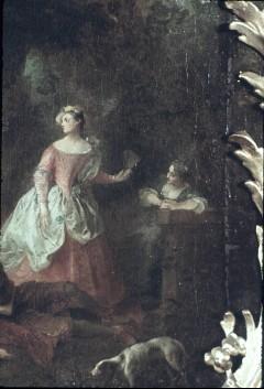 Ausschnitt: stehende Dame am rechten Bildrand, Aufn. Cürlis, Peter, 1943