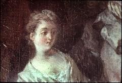 Ausschnitt: sitzende Dame links neben dem Tänzer,Teilansicht, Aufn. Cürlis, Peter, 1943