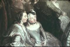 Ausschnitt: zwei sitzende Damen, Teilansicht, Aufn. Cürlis, Peter, 1943