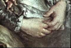 Ausschnitt: zwei sitzende Damen, Detail: Hände der rechten Dame, Aufn. Cürlis, Peter, 1943