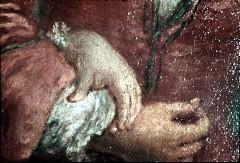 Ausschnitt: der Tänzer, Detail: rechter Arm mit linker Hand der Tänzerin, Aufn. Cürlis, Peter, 1943