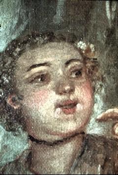 Ausschnitt: Paar hinter dem Gitarrenspieler, Detail: Kopf der Frau, Aufn. Cürlis, Peter, 1943