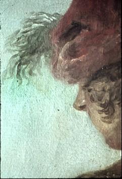 Ausschnitt: stehender Mann am rechten Bildrand, Detail: Gesicht, Aufn. Cürlis, Peter, 1943