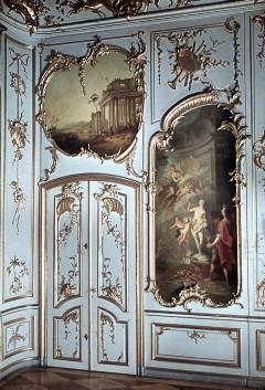 Teilansicht der Westwand mit der linken Tür, Aufn. Cürlis, Peter, 1943/1945