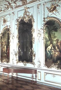 Teilansicht der Westwand mit dem Spiegel in der Mitte, Aufn. Cürlis, Peter, 1943/1945