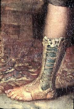 Ausschnitt: linkes Bein des Pygmalion, Aufn. Cürlis, Peter, 1943/1945