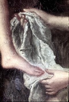 Ausschnitt: linker Fuß der Diana und Hände der knienden Nymphe, Aufn. Cürlis, Peter, 1943/1945