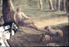 Ausschnitt: Hirte mit Schafen, Aufn. Cürlis, Peter, 1943/1945