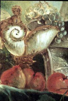 Ausschnitt: Nautiluspokal und Früchte, Aufn. Cürlis, Peter, 1943/1945