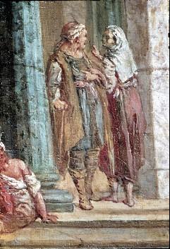 Ausschnitt: zwei Staffagefiguren, Aufn. Cürlis, Peter, 1943/1945