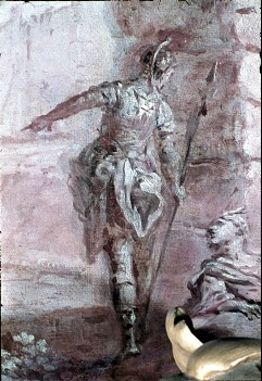 Ausschnitt: stehende Staffagefigur, Aufn. Cürlis, Peter, 1943/1945