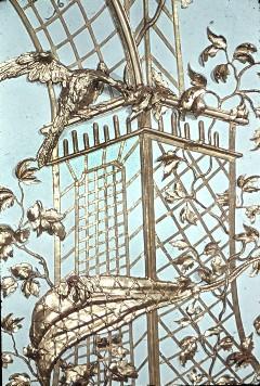 Detail: Gitterwerk mit Vogel über der Südwestecke, Aufn. Cürlis, Peter, 1943/1945