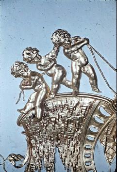 Detail: drei ziehende Putten über der Südwand, Aufn. Cürlis, Peter, 1943/1945