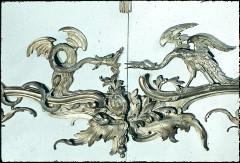Detail der Ostwand: mit einem Drachen streitender Kranich, Aufn. Cürlis, Peter, 1943