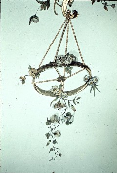 Detail: aufgehängter Reif mit Blumen, Aufn. Cürlis, Peter Cürlis, Peter, 1943