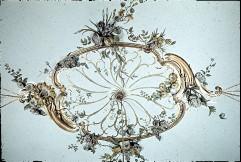Detail: Rocaille mit Blumen in der Deckenmitte, Aufn. Cürlis, Peter Cürlis, Peter, 1943