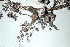Detail: Blumen an der Rocaille in der Deckenmitte, Aufn. Cürlis, Peter Cürlis, Peter, 1943