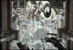 Detail: der Heilige Michael und seine Engel kämpfen gegen den Teufel, Aufn. Schulze-Marburg, Rudolf, 1943/1944