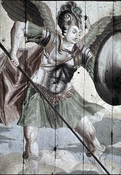 Detail: Heiliger Michael, Aufn. Schulze-Marburg, Rudolf, 1943/1944