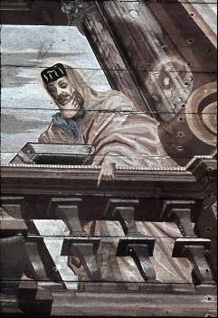 Detail: Prophet Jeremias mit Schrift, Aufn. Schulze-Marburg, Rudolf, 1943/1944