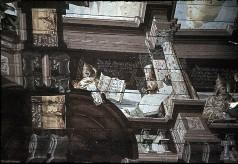 Detail: Architekturzone mit dem Heiligen Papst Gregor, dem Heiligen Paulus? und dem Heiligen Papst Innozenz?, Aufn. Schulze-Marburg, Rudolf, 1943/1944